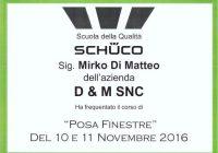 CERTIFICAZIONE-SCHUCO-MIRKO DI MATTEO-POSA-FINESTRE