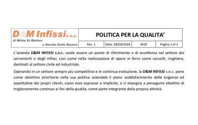 POLITA PER LA QUALITA'